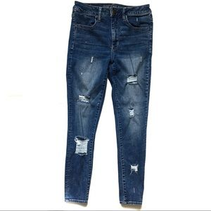 American Eagle Destroyed High Rise Jeggings